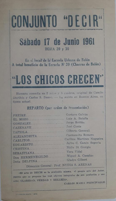 PROGRAMA DE 1961