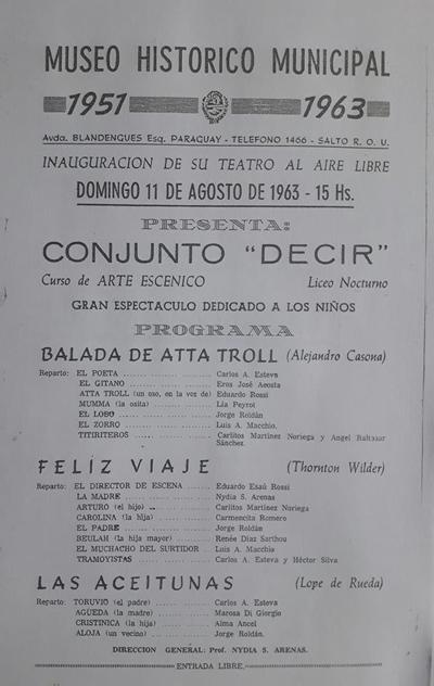 PROGRAMA DE 1963