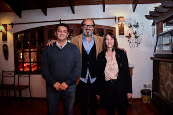 Martín Pittaluga junto a José Luis Bertolotto y Paola Rapetti