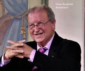 César Borghetti, bandoneonista de Tango Nuestro