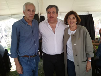 Ministro Guillermo Bernaudo,  Lic. Fabián Bochia, María Luisa Sardá.