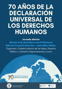 Afiche 70 añosde la declaración universal de los derechos humanos