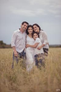 Martina con sus padres Alejandro Galliazzi y María Elena Pereira y Candela Galliazzi Pereira
