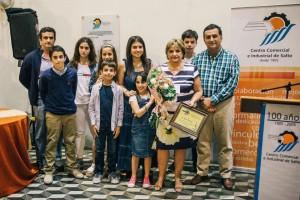 Raquel Galluzzo y familia