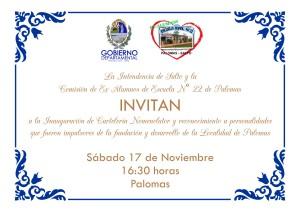 invitación nomenclator Palomas
