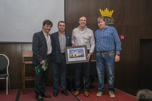 Cr.Gabriel Ferrere,Presidente centro comercial Atilio Minervini,Alejandro Diaz