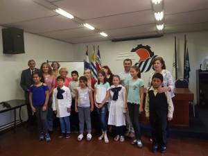 Grupo de Escuelas y concursantes premiados