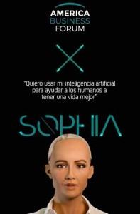 La robot Sophia y otros rupturistas expondrán en America Business Forum