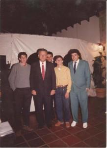 Olivio Díaz junto al antiguo Presidente del Paraguay Wasmosy
