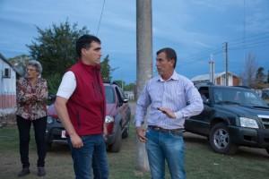 intendente Lima y el alcalde Henderson en Lavalleja