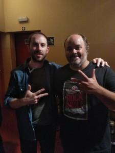 Nacho2 Nacho y CristianCaray, guitarrista de la triple Nelson