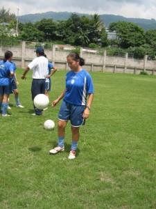 En un entrenamiento