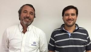 Marcos Russo y Francisco Preve de la oficina norte de Megaagro
