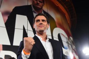 Noche electoral de Ciudadanos en Madrid GRAF248. MADRID, 28/04/2019.- El líder de Ciudadanos Albert Rivera valora los resultados electorales, hoy domingo en la sede del partido naranja en Madrid. EFE/Chema Moya