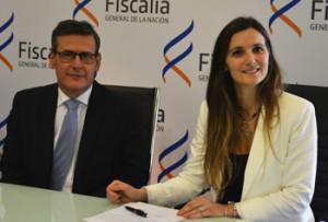 fiscal de corte Jorge Díaz y la  nueva fiscal de Salto de 4º Turno