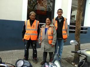 Mónica con su hijo y Domingo