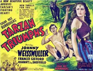 El personaje de Tarzán más recordado, el de Weissmuller, en sus películas. 3