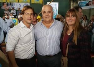 Luis Lacalle - Francisco Blardoni y María Eugenia Almirón