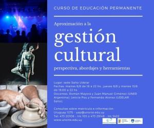Afiche Curso Gestión Cultural (1)
