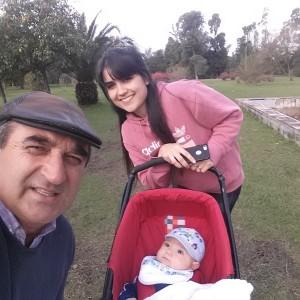 Wilney con Bettania y nieto