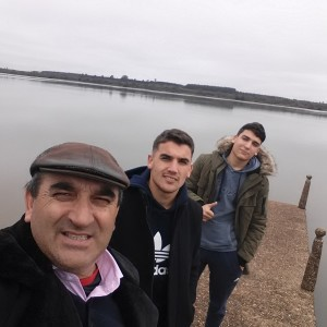 Wilney con Facundo y Mauro