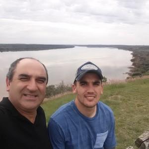 Wilney con Mauro