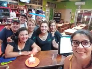Carolina y su equipo de trabajo en La PAsiva