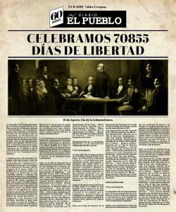 Diario El Pueblo - Independencia Tapa 25x30
