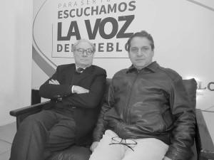 Agustin Espinosa con Miguel Feris