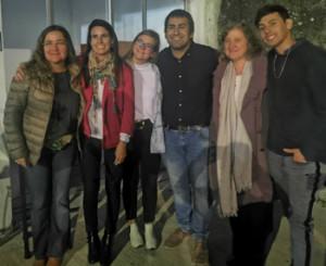 Lic. Jimena Silva, directora de UCU Campus Salto, Lic. María Meneses, María del Carmen Nieto, Martín Prudenza, Viviana Pane y Anthony Alvez