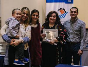 Adriana Martínez, directora de Diario El Pueblo, junto a Lucía  Molinari, Ignacio Baez Molinari, Belén y Matías de Brum Martínez