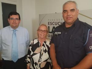 Gabriel Cartagena, Elizabeth Bouvier y Camilo Dalmao