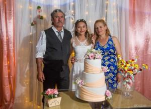 Emiliana junto a sus padres Olavo Raul Dalmao y Celia Margarita Buzzo