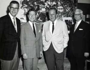 Con Walt Disney y otros caricaturistas