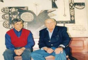 Páez junto al exsecretario de Redacción de diario EL PUEBLO Alberto Rodríguez