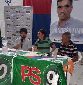 Víctor Giménez candidato a Alcalde de Villa Constitución difundió sus ideas y apoya a Andrés Lima