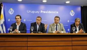 Rodrigo Ferrés, Álvaro Delgado, Daniel Salinas y Mario Arizti