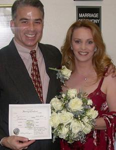 En el casamiento con John Minoli, su último marido