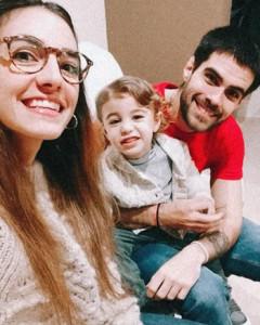 Fabricio Marziotte y familia
