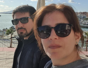 Valeria y su esposo Guillermo