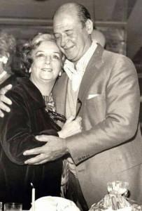 Olinda Bozán y Luis Sandrini, una de  las grandes parejas del cine argentino