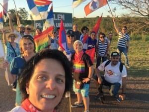 Soledad con su grupo del Partido Demócrata Cristiano