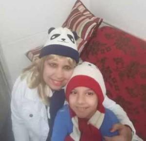 Elena y su hijo Salvador