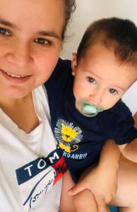 Eugenia con su hijo Lorenzo