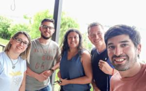 Andrea Martierena, Iván Funes, Soledad Ferrreira, Ruben Flores y Horacio Mendoza