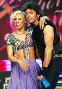Con Abigail Pereyra en Bailando por un sueño. 5