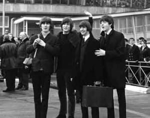 Los fabulosos cuatro rumbo a Bahamas, a filmar, Febrero 1965. 2