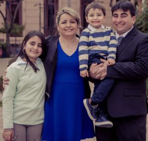 Hector Daniel y Mercedes Patricia junto a Melany Farias Barrios y Santiago Nicolas Farias Barrios